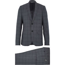 69% OFF JOHN RICHMOND Grey Wool Check Suit IT56 UK46 3XL 100% wool