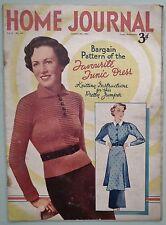 VINTAGE 1930s HOME JOURNAL MAGAZINE ORIGINAL KNITTING PATTERNS LINGERIE SWEATER