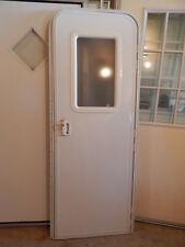 """Trailer Door, 26"""" X 72"""". With Screen Door, Frame, Locks & Keys, White Dents #42A"""