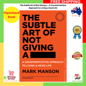 BRAND NEW The Subtle Art of Not Giving a Fck F*ck F * ck Fuck FAST FREE SHIPPING