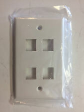 Four Gang Cable/Telephone/Computer Outlet Cover Box of 50
