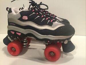 Skechers Sport 4 Wheelers Roller Skates Women Size 9.5 Navy Hot Pink