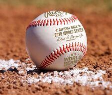 BRAND NEW MLB 2016 WORLD SERIES OFFICIAL GAME BALL BASEBALL in Box