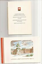 Swiss & Austrian- Booklets with stamps-1964 Expo Nationale & Wipa 1981 Wien