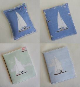 Handmade Needle books and Pin Cushions. Cotton fabric with a boating theme.