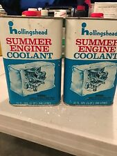 Vintage (2 ) Hollingshead Summer engine Coolant 32 Oz