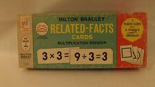 "Vtg Milton Bradley Flash Cards Nos Multiplication/Division Math 3.5"" x 8"" 45 pc"