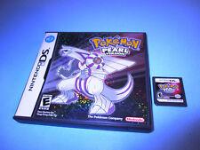 Pokemon Pearl Version (Nintendo DS) Lite DSi XL 3DS 2DS w/Case (No Manual)