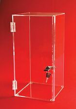 "Locking Display Case - 20"" H x 14""W x 12""D - No inside shelves | Square Case"