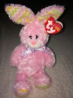 MWMT Ty Beanie Baby - Hoppity - Pastel Pink Easter Bunny 2009 Very Rare