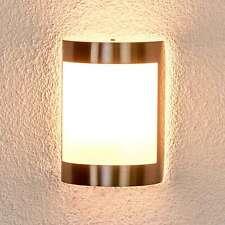 Außenwandleuchte Kinga Edelstahl Wandlampe Außen Lampenwelt Edelstahlleuchte