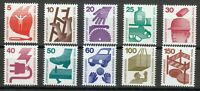 Berlin 1971-1974 MNH Mi 402A-411ASc 9N316-9N325 Accident Prevention **