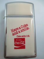 Coca-Cola Zippo Lighter Stainless and Enamel Coke Adds Life Rare
