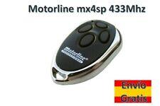 MANDO DE GARAJE MOTORLINE MX4SP 433 Mhz ORIGINAL NUEVO ROLLING CODE REMOTE