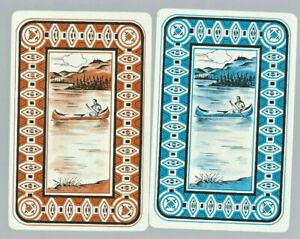 Geniune Swap Vintage Playing Card  x 2  PEOPLE