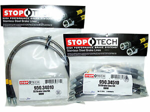 Stoptech Stainless Steel Braided Brake Lines (Front & Rear Set / 34010+34510)