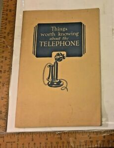 1929 Things to Know about phone...American Telephone & Telegraph Co Bell System