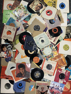"""100+ Vinyl 7"""" SINGLES Job Lot - 1960's / 1970's / 1980's - unsorted / untested"""