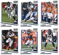 2018 Score Denver Broncos Veteran Team Set of 10 Cards