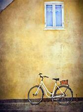Ciclo bici bicicletta vintage vecchio edificio foto art print poster foto bmp1198a