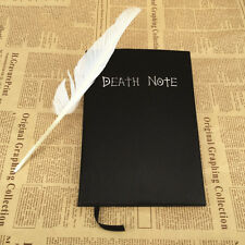 Anime Death Note Kira Yagami Cosplay Notebook Feather Pen 20.5*14.5cm US Stock