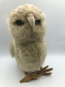 Official Hansa Standing Burrowing Owl Bird Plush Stuffed Toy Realistic Animal