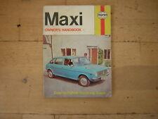 Maxi Owner's Handbook/Servicing Guide