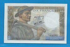 Gertbrolen 10 Francs ( MINEUR )  du 26-4-1945  E.101 Billet N° 250490072