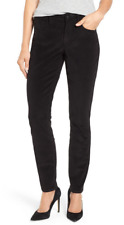 NYDJ Womens Collection M13c1075 Alina Legging Fit Jeans in Corduroy 6 Black