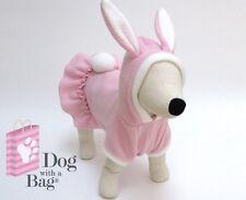 Pink Bunny Easter Dress Hallween Chihuahua Fleece Dog Pajama Costume Small S