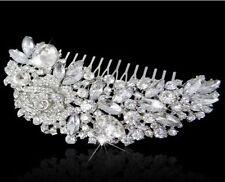 Grace Bridal Wedding Crystal Rhinestones Diamante Vintage Hair Comb Clip