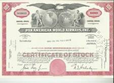 Two Pan Am Stock Certificates