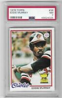 1978 Topps Eddie Murray All Star Rookie Cup Card PSA 7 No. 36