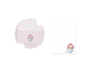 Kinder Briefpapier Meerjungfrau Mädchen, Briefpapier Set, A5 Block & Umschlag