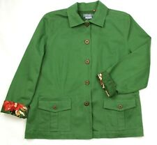Koret Women's Green Denim Jacket Size 18W