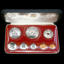1975 PAPUA NEW GUINEA 1st COIN PROOF SET FRANKLIN MINT INCLUDES SILVER ISSUES