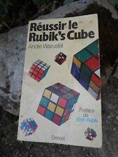 Livre : Réussir le rubik's cube Puzzle de André Warusfel 1981