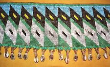 Kirdi Woman Tribal Cache Sexe Beaded Belt Apron W Cowry Shells, Cameroon, Africa
