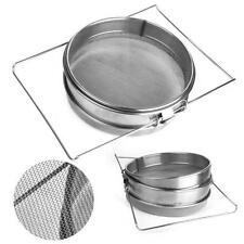 Stainless Steel Beekeeping Double Honey Sieve Strainer Filter Equipment L/S Size