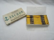 24 Vintage Clarks Anchor yellow 795 embroidery silks thread stranded cotton NOS