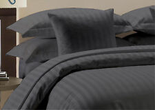 """1000 TC Bed Skirt Select Drop Length """"Elephant Gray"""" Striped All US Size"""
