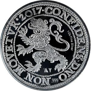 1 oz Silver Coin 2017 Netherlands Lion Restrike .999 Fine BU