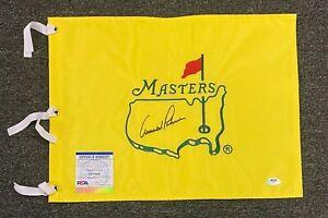 Arnold Palmer Signed Masters Golf Tournament Pin Flag Autograph PSA/DNA COA HOF