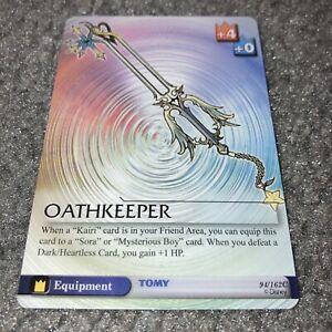 DISNEY TOMY KINGDOM HEARTS EQUIPMENT OATHKEEPER 94/162 CARD!
