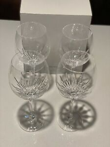 Vera Wang Dutchesse Wine Glass Goblet Leaded Crystal set of 4 New In Box