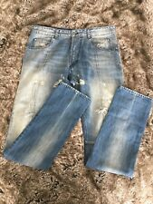 """£655 PIERRE BALMAIN Designer Distressed Studded Jeans IT50/ W34"""" - Made In Italy"""