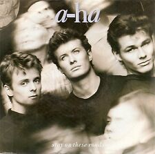"""45 TOURS / 7"""" SINGLE--A-HA / AHA--STAY ON THESE ROADS / SOFT RAINS OF APRIL-88"""