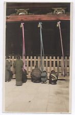 OLD PHOTO COLORED COLORISÉE Japon Japan Vers 1920 1930 Prière Rehaussée