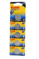 5 Pack Kodak Ultra CR2032 3V Lithium Button Battery Exp 2025