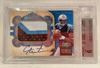 2011 National Treasures Cam Newton ROOKIE RC PATCH AUTO /99 #328 BGS 9 MINT